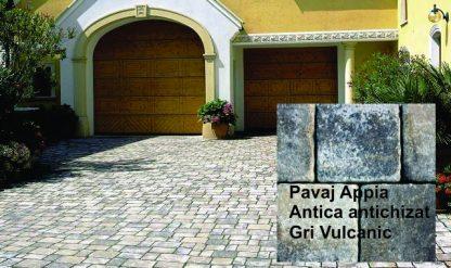 Pavaj Appia Antica antichizat Gri Vulcanic