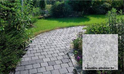 Pavaj Castelletto antichizat gri